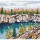 Набор для вышивания Овен №1306 «Мраморный каньон. Рускеала» 20*20 см
