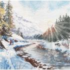 Набор для вышивания Овен №1387 «Морозная свежесть» 24*24 см