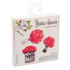 Набор АртУзор 2522641 значки-броши «Цветочный рай» 8*8*1,5 см красный