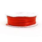 Лента атласная 3 мм (рул. 100 м)  двухсторонняя  №025 красный