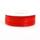 Лента атласная 3 мм (рул. 100 м)  двухсторонняя  №026 красный