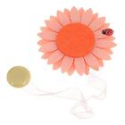 Клипса-магнит для штор с лентой 0368 фетр 551 бледно-розовый