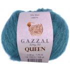 Пряжа Квин (Queen Gazzal ), 50 г / 100 м  7333  изумрудный