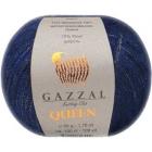 Пряжа Квин (Queen Gazzal ), 50 г / 100 м  7339 т. синий