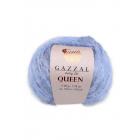 Пряжа Квин (Queen Gazzal ), 50 г / 100 м  7337 джинсовый