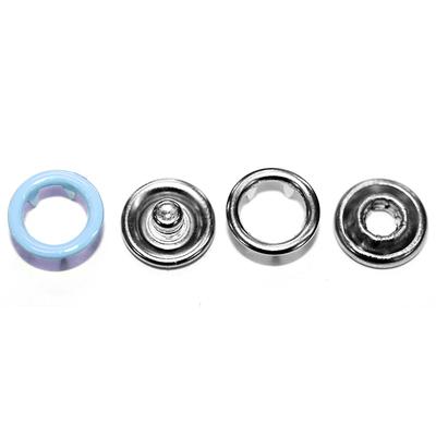 Кнопки «BABY»  9,5 мм (кольцо) (уп. 1440 шт.) голубой в интернет-магазине Швейпрофи.рф