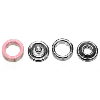 Кнопки «BABY»  9,5 мм (кольцо) (уп. 1440 шт.) розовый в интернет-магазине Швейпрофи.рф