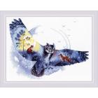 Набор для вышивания Риолис №1954 «В ночном лесу» 40*30 см
