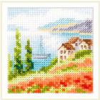Набор для вышивания Алиса 0-199 «Маки у моря» 7*7 см