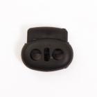 Фиксатор пласт. 27002 (овал) большой 25*20 мм чёрный