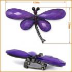 Брошь ГСХ793 Стрекоза 43*28 мм 508375 т. никель/фиолетовый