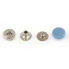 Кнопки 12,5 мм «альфа» (пластм. шляпка) голуб. 7174