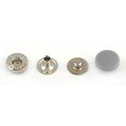 Кнопки 12,5 мм «альфа» (пластм. шляпка) серая 7171
