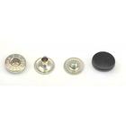 Кнопки 12,5 мм «альфа» (пластм. шляпка) черн. 1773