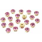 Стразы пришивн. «Астра»  8 мм в цапах/золото 4AR167/168 хруст. (уп 20 шт) 7727640 №06 светло-розовый