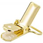 Зажим для подтяжек 30 мм 6648 613529 золото в интернет-магазине Швейпрофи.рф