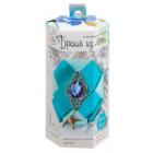 Набор для творчества Артузор 2557342 Брошь из ленты «Небесное сияние» 6*13*6 см голубой