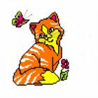 Набор для вышивания Нитекс 2056 «Рыжий кот»  22*22см