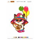 Набор для вышивания Нитекс 2150 «Котенок в шляпке» 22*32 см