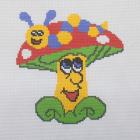 Набор для вышивания Нитекс 2404 «Гусеничка на грибочке» 22*22 см