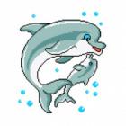 Набор для вышивания Нитекс 2424 «Дельфины» 22*32 см