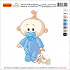 Набор для вышивания Нитекс 2443 «Малыш» 22*22 см