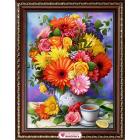 Алмазная мозаика АЖ-1864 «Летний букет» 30*40 см