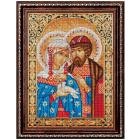 Алмазная мозаика АЖ-1848 «Икона Петр и Февронья» 30*40 см