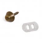 Пукля металл К3130 12*12*6 мм  514088 антик