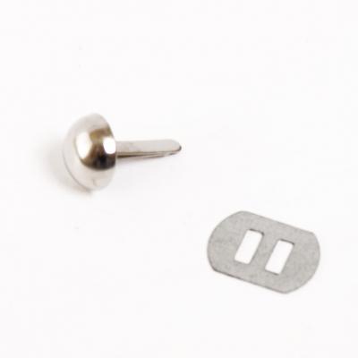 Пукля металл КД0946 12*5 мм  500070 никель в интернет-магазине Швейпрофи.рф