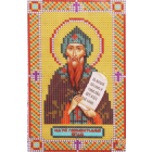 Ткань для вышивания бисером А5 иконы БИС Арт. 3-63 «Св.Кирилл» 10,5*17 см