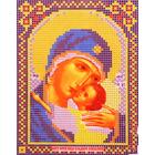 Ткань для вышивания бисером А5 иконы БИС МК-209 «Пр. Б. Сладкое Лобзание» 12*16 см