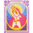 Ткань для вышивания бисером А5 иконы БИС МК-180 «Остробрамская» 12*16 см