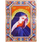 Ткань для вышивания бисером А4 БИС 008 «Пр.Б. Дева Мария» 17*23 см