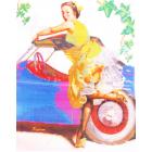 Ткань для вышивания бисером Светлица К-293 «Прокатимся» 24*30 см