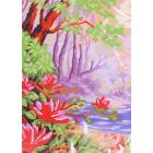 Ткань для вышивания бисером А4+ БИС МП-088 «Цветы на рассвете» 21,5*29,5 см