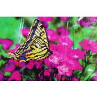 Ткань для вышивания бисером А4+ БИС МП-022 «Бабочка на лиловых цветах» 20,5*30 см