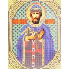 Ткань для вышивания бисером Каролинка КБИ-4003 «Благоверный Князь Петр» 18*24 см