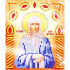 Ткань с рисунком для вышивания бисером «Наследие ИСА5-024 Ксения Петербургская» 17,5*21,5 см