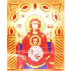 Ткань с рисунком для вышивания бисером «Наследие ИСА5-011 Св. Б. Знамение» 17,5*21,5 см