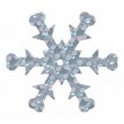 Пайетки «фигурки» Астра снежинки 24 мм (уп. 100 г) 50112 серебро 675297