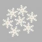 Пайетки «фигурки» Астра снежинки 24 мм (уп. 100 г) L010 мат.белый 675297