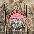 Заготовка для декора 4624107 «Круг. Котик рисованный» донышко дерев. 10*10 см