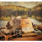 Ткань для вышивания бисером МП 4236 «На рыбалочке» 41*41 см
