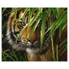 Ткань для вышивания бисером М.П.Студия Г-037 «Тигр» 40*50 см