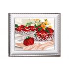 Рисунок на ткани «VKA» 4206 В хрустале клубника 20*25 см