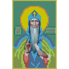 Ткань для вышивания бисером А5 КМИ-5414 «Св. Генадий» 10*18 см