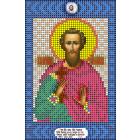 Ткань для вышивания бисером А5 КМИ-5426 «Св. Леонид» 10*18 см