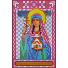 Ткань для вышивания бисером А5 КМИ-5428 «Св. Царица Тамара» 10*18 см