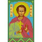 Ткань для вышивания бисером А5 КМИ-5406 «Св. Виталий» 10*18 см